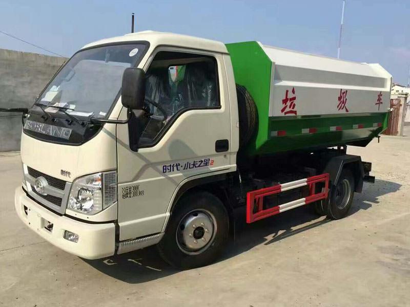 福田小卡3方挂桶式垃圾车图片