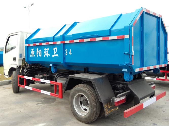 东风5方钩臂式垃圾车