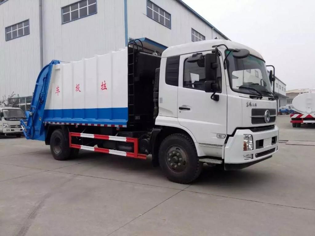 东风天锦12方压缩式垃圾车图片