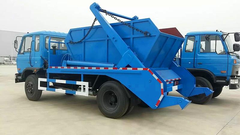 东风153摆臂式垃圾车图片