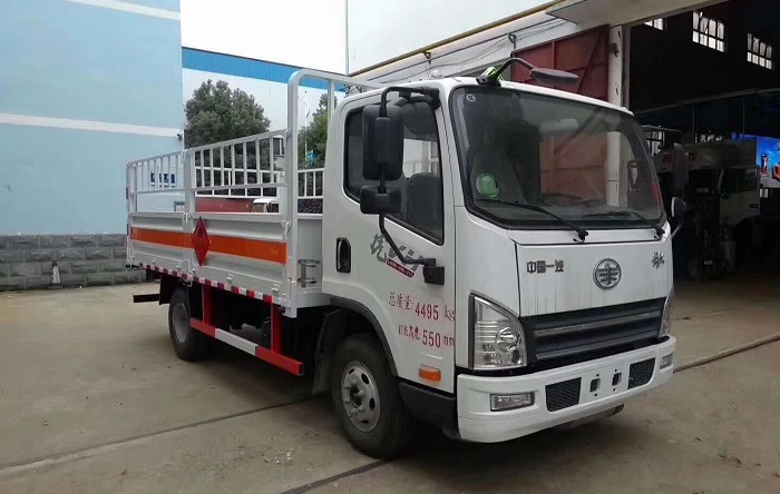 5.2米解放虎VN高栏气瓶运输车
