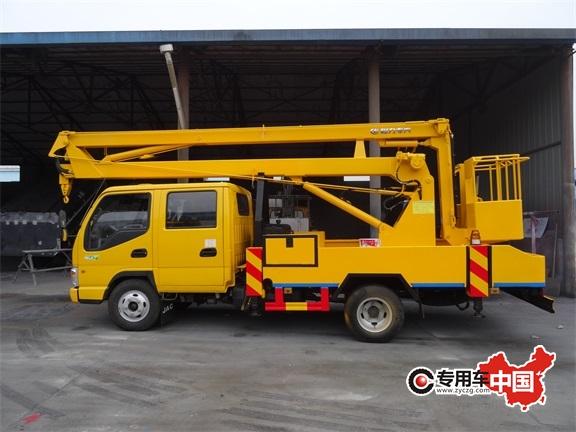 江淮12米折臂式高空作业车图片