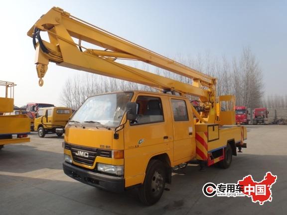 江铃12米折臂式高空作业车图片
