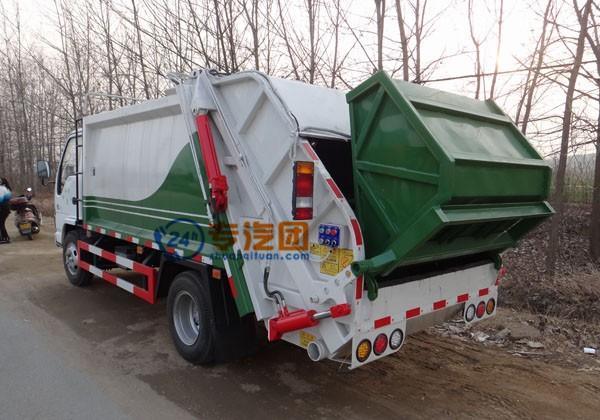 庆铃五十铃6方压缩式垃圾车