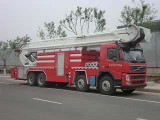 金猴举高喷射消防车图片