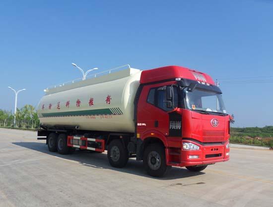 解放8*4低密度粉粒物料运输车