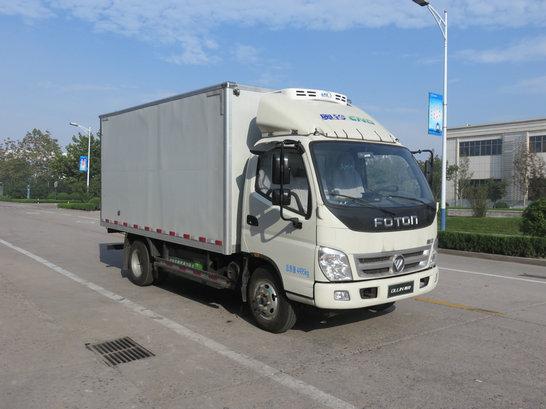福田奥铃天然气动力蓝牌4.2米冷藏车