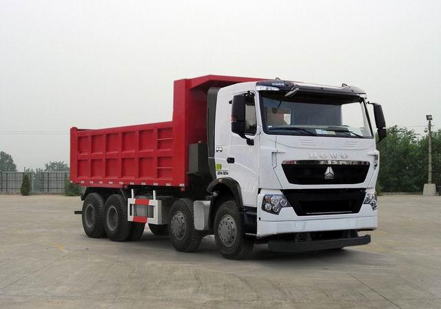 豪沃16吨前四后八324马力 柴油自卸车图片