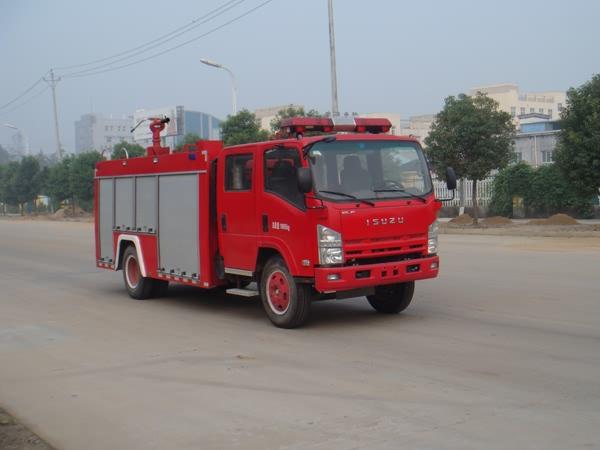 江特庆铃五十铃5吨水罐消防车 图片