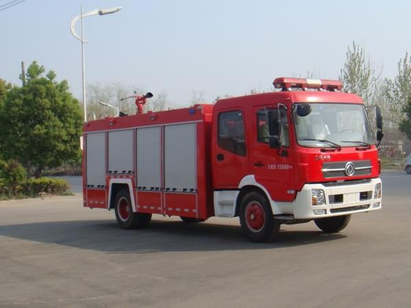 东风天锦7吨水罐消防车JDF5161GXFSG70B