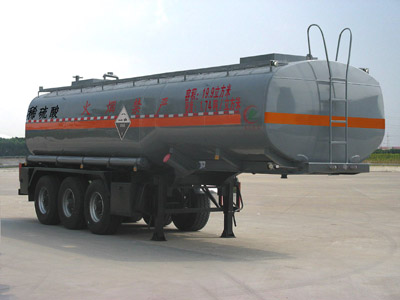 CLW9403GFW腐蝕性物品罐式運輸半掛車