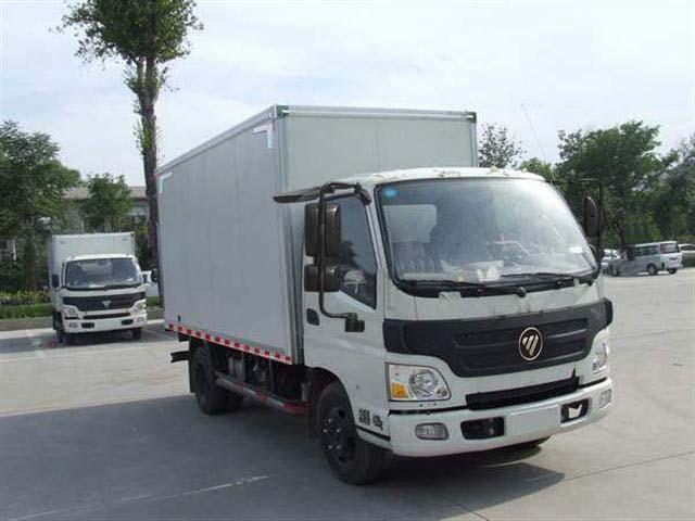 福田4.2米厢式运输车图片