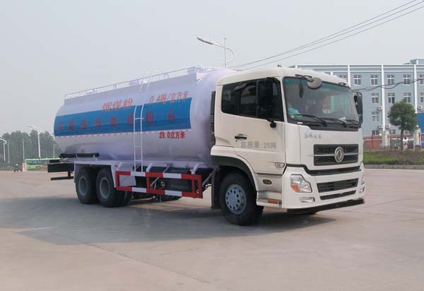 东风天龙32.5方华威驰乐低密度粉粒物料运输车
