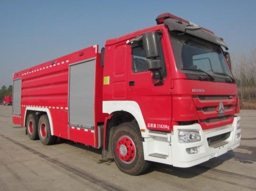 上格牌(SGX5322GXFPM170/ZZ)泡沫消防车结构及工作原理
