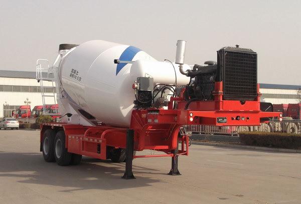 华宇达牌10方混凝土搅拌运输半挂车(LHY9350GJB)全国领先的大架制作工艺