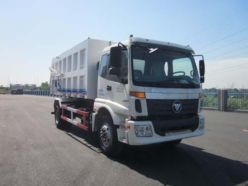 福田欧曼自卸式垃圾车图片