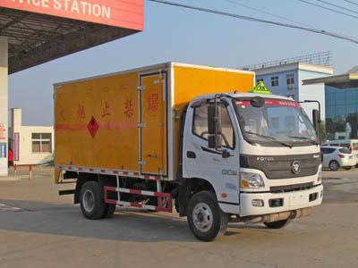 福田欧马可易燃气体厢式运输车图片