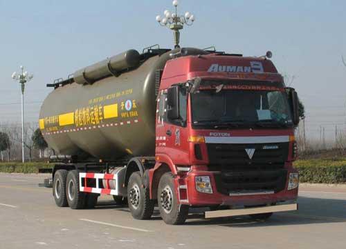 安徽开乐专用车辆AKL5310GFLBJ02型欧曼8*4低密度粉粒物料运输车