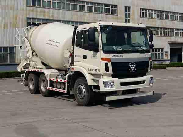 欧曼牌6方混凝土搅拌车(BJ5252GJB-AA)全国领先的大架制作工艺
