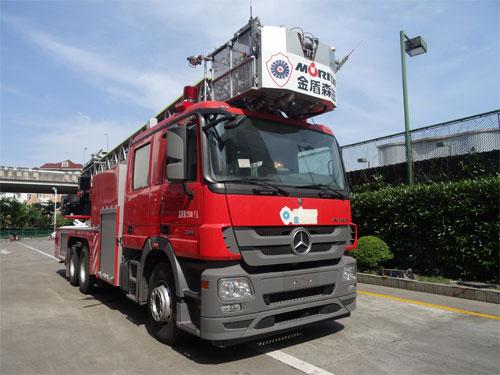 金盛盾牌(JDX5280JXFYT30/BG)云梯消防车结构及工作原理