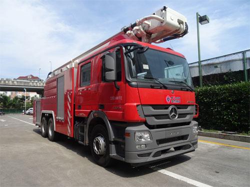 金盛盾牌7吨举高喷射消防车有哪些用途?