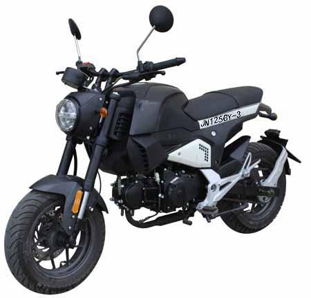 整车型号:jn125gy-3  品牌:两轮摩托车   燃油种类:汽油   防抱死
