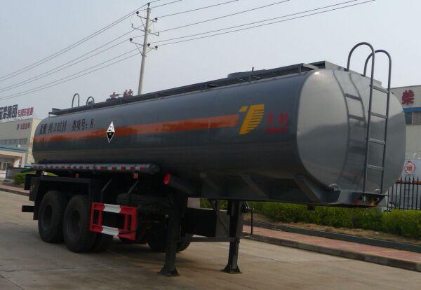 DTA9350GFW腐蝕性物品罐式運輸半掛車