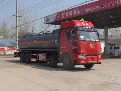 解放18方腐蚀性物品罐式运输车