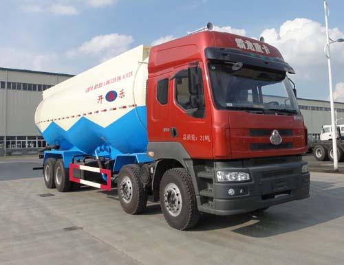 安徽开乐专用车辆AKL5310GFLLZ01型东风柳汽霸龙M5前四后八低密度粉粒物料运输车
