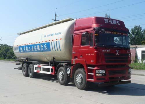 安徽开乐专用车辆AKL5310GFLSX05型陕汽德龙F3000前四后八低密度粉粒物料运输车