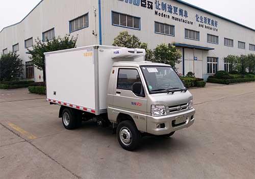 山东巨环专用汽车ZJH5032XLC型福田驭菱冷藏车