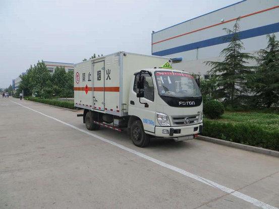 福田奥铃易燃气体厢式运输车图片