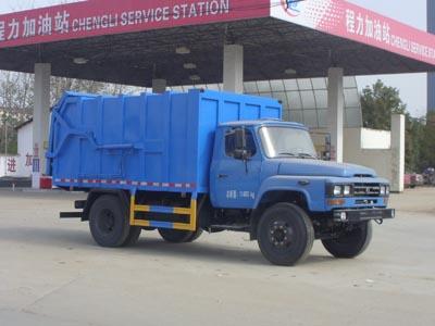 东风140对接式垃圾车8立方垃圾转运车图片