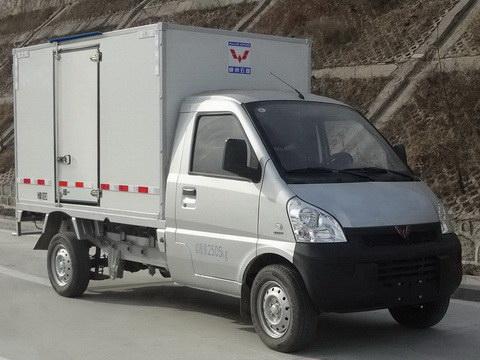 五菱lqg5031xxydbev型纯电动厢式运输车多方位图图片