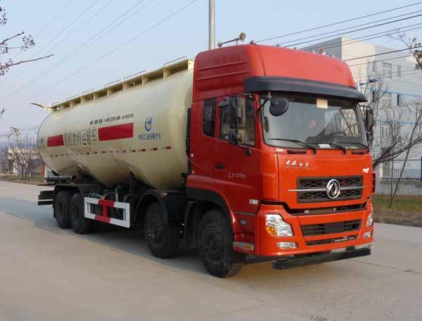 安徽开乐专用车辆AKL5310GFLDFL03型东风天龙前四后八低密度粉粒物料运输车