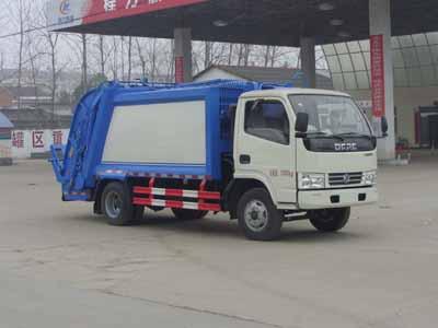 东风多利卡程力5方压缩式垃圾车