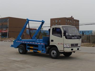东风多利卡4立方摆臂式垃圾车