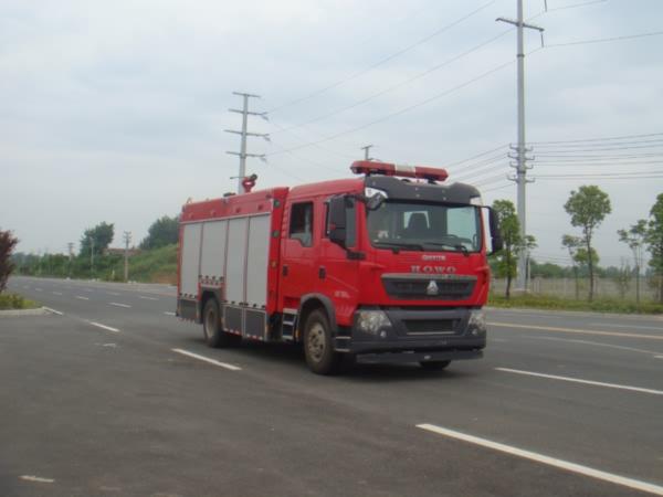 江特牌(JDF5163GXFSG50)水罐消防车结构及工作原理