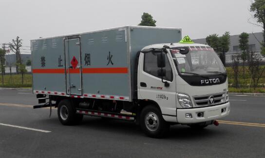 (厢长4.08米)奥铃易燃液体厢式运输车