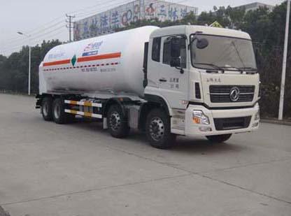 亚博体育官网天龙前四后八低温液体运输车图片