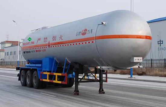 液化气体运输半挂车图片