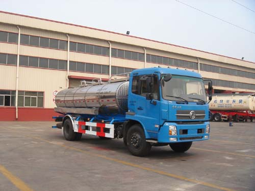 东风天锦平顶带卧鲜奶运输车