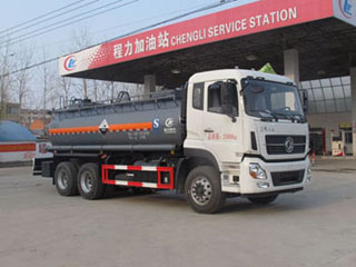 东风天龙后八轮腐蚀性物品罐式运输车