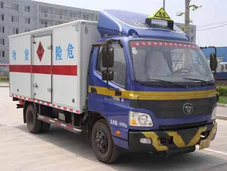 福田欧马可单排易燃气体厢式运输车