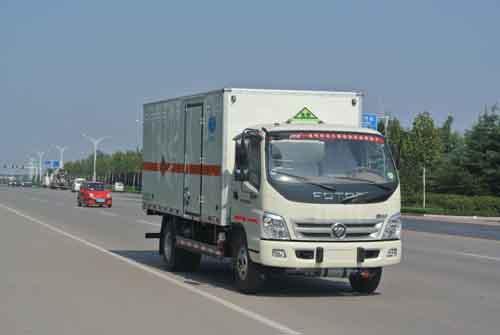 福田奥铃单排易燃气体厢式运输车