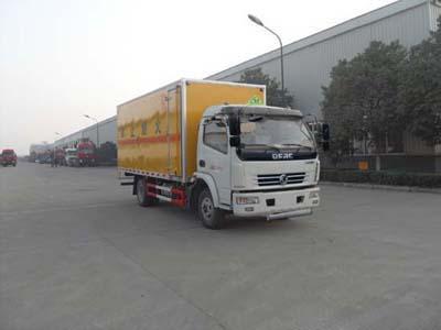 东风康霸单排易燃气体厢式运输车