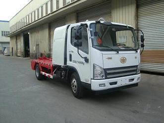 解放虎V纯电动车厢可卸式垃圾车