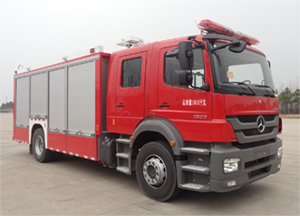 金盛盾牌(JDX5120TXFHJ100/B)化学事故抢险救援消防车结构及工作原理