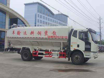 解放J6散装饲料运输车