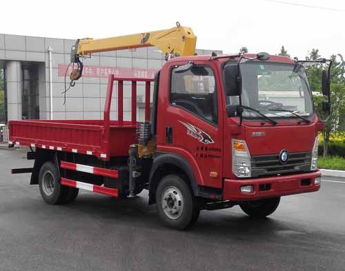 (2-3.2吨吊机)王牌上蓝牌随车起重运输车